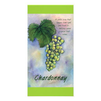 Chardonnay Wine Grapes & Description Photo Card