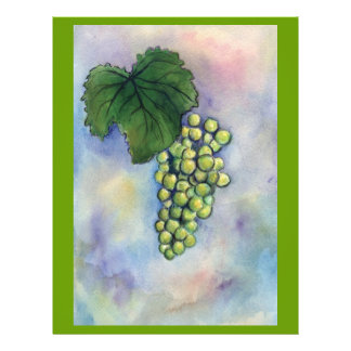 Chardonnay Wine Grapes Flyer