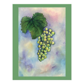 Chardonnay Wine Grapes Letterhead
