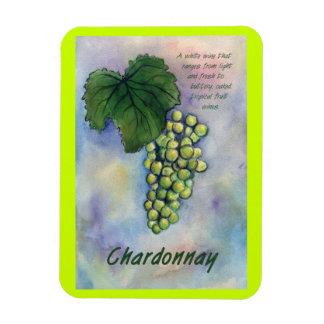 Chardonnay Wine Grapes Painting Art Magnet