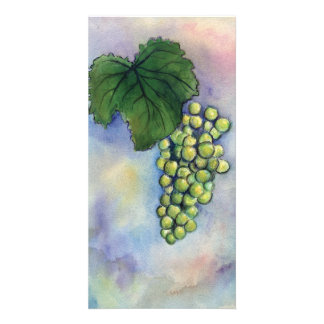 Chardonnay Wine Grapes Photo Card
