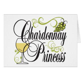 Chardonnay Wine Princess Card