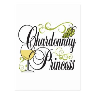 Chardonnay Wine Princess Postcard