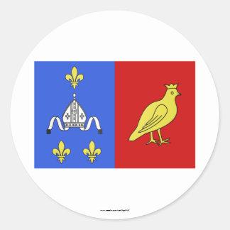 Charente-Maritime flag Classic Round Sticker