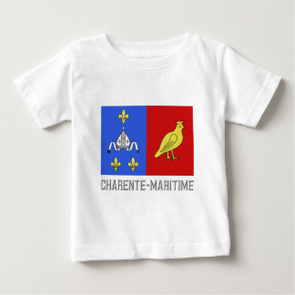 Charente-Maritime flag with name Baby T-Shirt