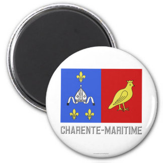 Charente-Maritime flag with name Magnet