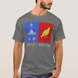 Charente-Maritime flag with name T-Shirt