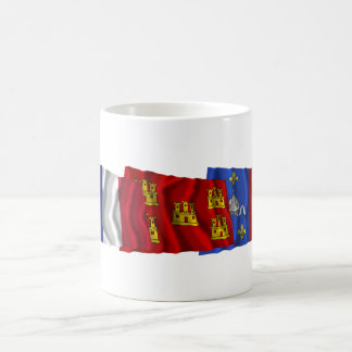 Charente-Maritime, Poitou-Charentes & France flags Coffee Mug