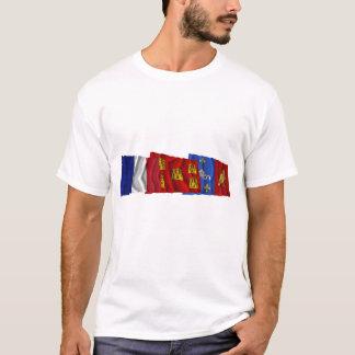 Charente-Maritime, Poitou-Charentes & France flags T-Shirt