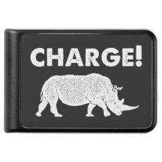 Charge! Black And White Charging Rhino Power Bank at Zazzle