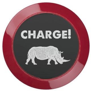 Charge! Black and White Rhino Funny USB Charging Station