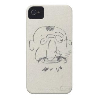 Charge de Lautrec par Lui-Meme (pencil on paper) iPhone 4 Cases