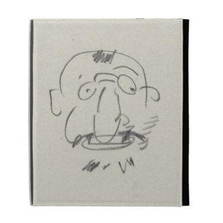Charge de Lautrec par Lui-Meme (pencil on paper) iPad Folio Case