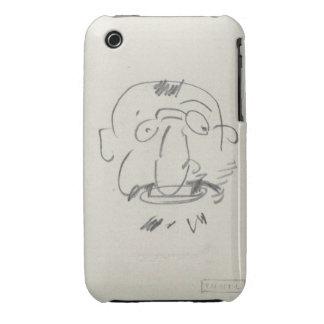 Charge de Lautrec par Lui-Meme (pencil on paper) iPhone 3 Covers