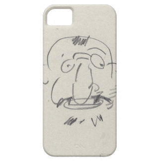 Charge de Lautrec par Lui-Meme (pencil on paper) iPhone 5 Cases