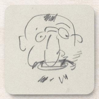 Charge de Lautrec par Lui-Meme (pencil on paper) Coaster