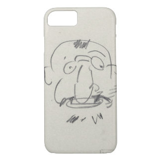 Charge de Lautrec par Lui-Meme (pencil on paper) iPhone 7 Case