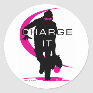 Charge it classic round sticker