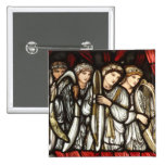 Charge of King David to Solomon 2 Inch Square Button