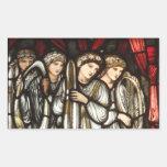 Charge of King David to Solomon Rectangular Sticker
