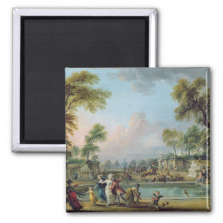 Charge of Prince of Lambesc  in Tuileries 2 Inch Square Magnet