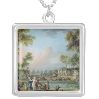 Charge of Prince of Lambesc  in Tuileries Silver Plated Necklace