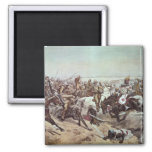 Charge of the 21st Lancers at Omdurman 2 2 Inch Square Magnet