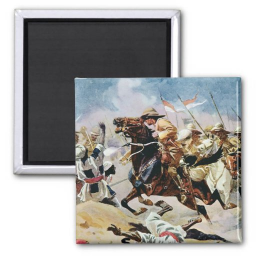 Charge of the 21st Lancers at Omdurman 2 Inch Square Magnet