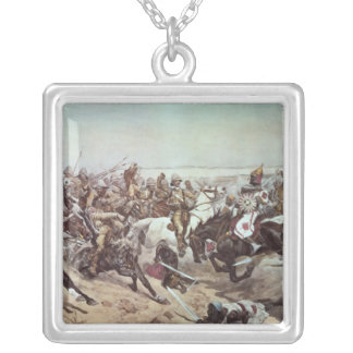 Charge of the 21st Lancers at Omdurman 2 Silver Plated Necklace