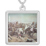 Charge of the 21st Lancers at Omdurman 2 Square Pendant Necklace