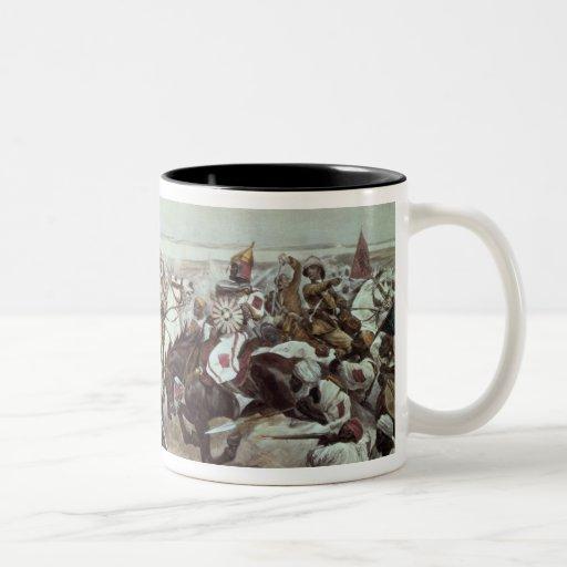 Charge of the 21st Lancers at Omdurman 2 Two-Tone Coffee Mug