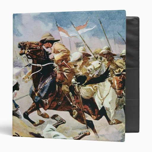 Charge of the 21st Lancers at Omdurman Vinyl Binders