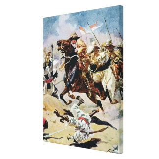 Charge of the 21st Lancers at Omdurman Canvas Print