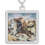 Charge of the 21st Lancers at Omdurman Square Pendant Necklace