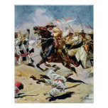 Charge of the 21st Lancers at Omdurman Poster