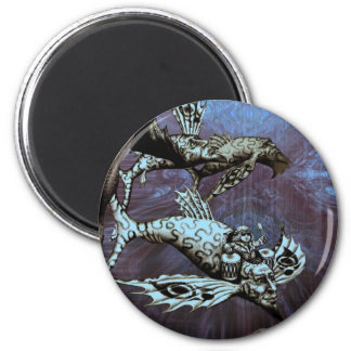 Charge of the Fish Pilot 2 Inch Round Magnet