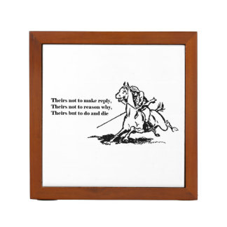 Charge of the Light Brigade Quote Illustration Pencil Holder