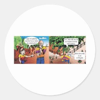 charge quadrinho mathematical of the vegetable gar classic round sticker