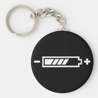 Charged - battery solar hybrid electric keychain