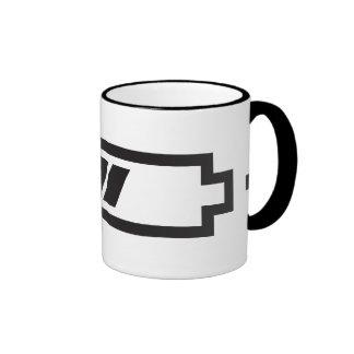 Charged - battery solar hybrid electric ringer coffee mug