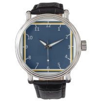 Charged Blue and Gold Wrist Watch