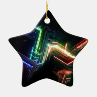 Charged particles ceramic ornament