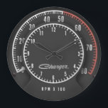 """Charger Tic-Toc-Tach Clock<br><div class=""""desc"""">If you have a Rally Dash in your car... . why not have it in your office or garage too???</div>"""