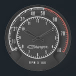 "Charger Tic-Toc-Tach Clock<br><div class=""desc"">If you have a Rally Dash in your car... . why not have it in your office or garage too???</div>"