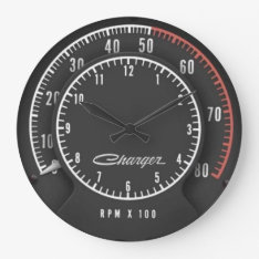 Charger Tic-Toc-Tach Clock at Zazzle