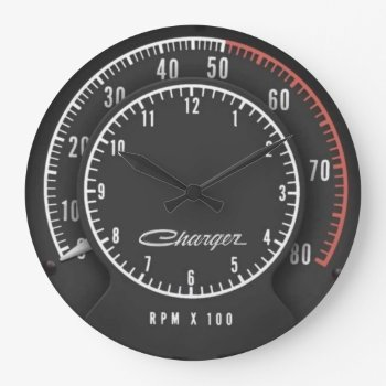 Charger Tic-toc-tach Clock by Chips_Designs at Zazzle