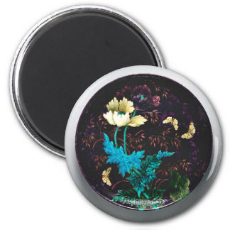 Charger with flowers and butterflies - Deck Magnet