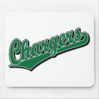 Chargers in Green Mouse Pad