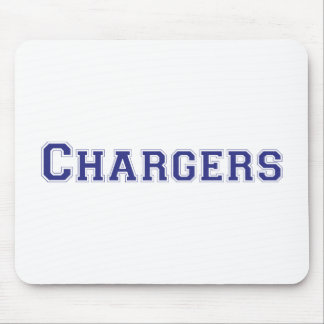 Chargers square logo in blue mouse pad