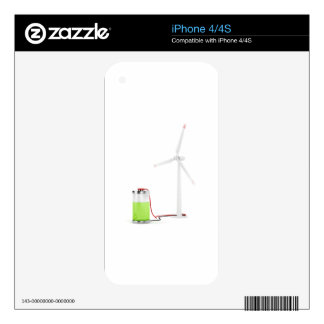 Charging battery with wind turbine iPhone 4S decal